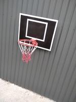 Баскетбольный щит настенный с кольцом и сеткой
